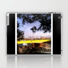 Beautiful Brisbane City - Victoria Bridge Digital Painting Laptop & iPad Skin