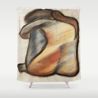 alone Shower Curtains featuring Alone by Tiffany Saffle