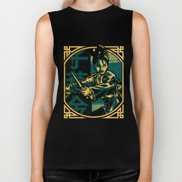 Golden Swallow - Moonlight (Tall) Biker Tank