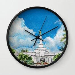 Merida Mexico LDS Temple Wall Clock