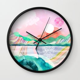 Lagoon Moon Wall Clock