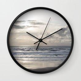 Silver Scene ~ Paint Daubs Effect Wall Clock