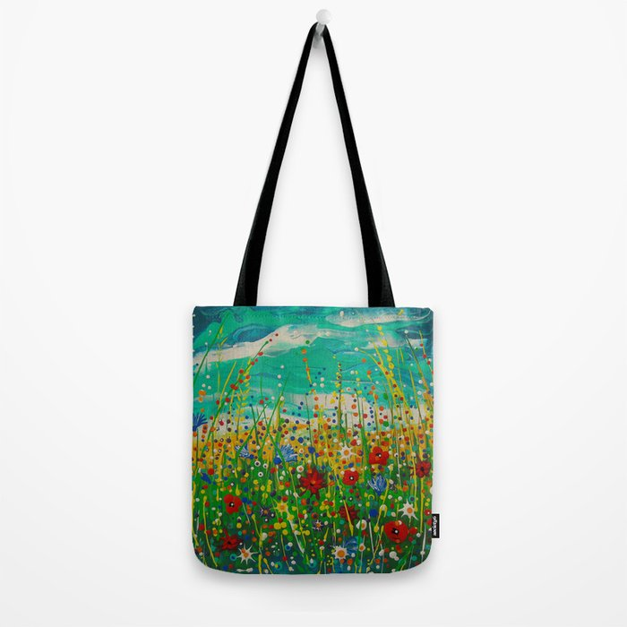 Flowers of happiness Tote Bag