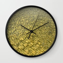 Water background with stones Wall Clock
