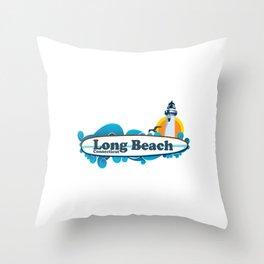 Long Beach - Ct. Throw Pillow