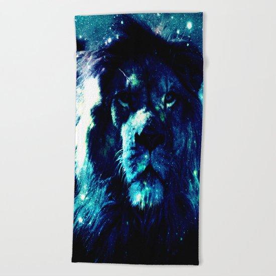 Galaxy Lion  Beach Towel