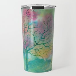 Colorful Spring Magic Tree painting Travel Mug