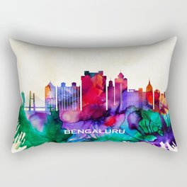 Bengaluru Skyline Rectangular Pillow