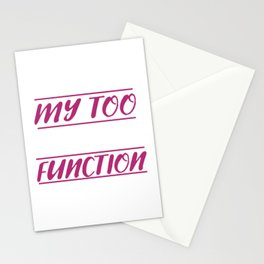 Too Tired To Function Lazy Person Gift Stationery Cards