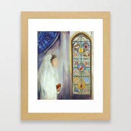 """Odilon Redon """"Portrait of Simone Fayet in Holy Communion"""" Framed Art Print"""