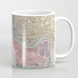 Vintage Map of London England (1865) Coffee Mug