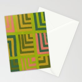 Painted Color Block Squares Stationery Cards