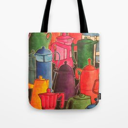 Cafetieres and coffee... Tote Bag