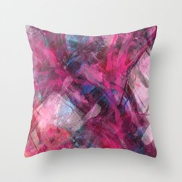 Red Dawn Abstract Throw Pillow