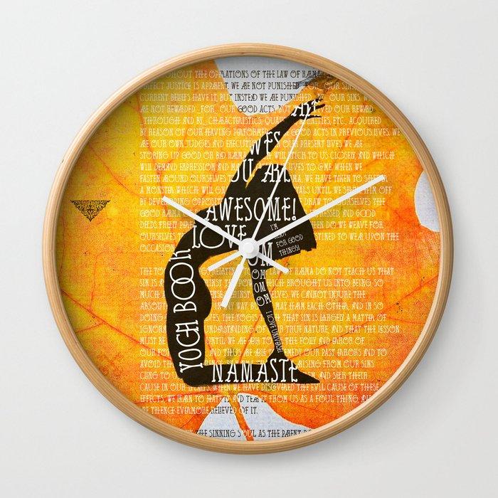 The LAw Of Karma Yoga Book Wall Clock