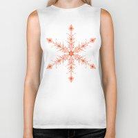 snowflake Biker Tanks featuring SnowFlake by Izabela Mikolajczyk