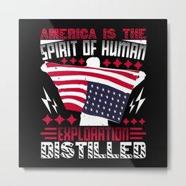 American is the spirit Metal Print