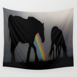 Silhouette of Color Wall Tapestry