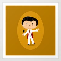 elvis presley Art Prints featuring Elvis Presley by Sombras Blancas Art & Design