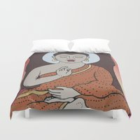 buddha Duvet Covers featuring Buddha     by Marjolein