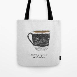 I Like Big Cups, Coffee Illustration Tote Bag