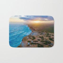 Sunset on the Nullabor, South Australia (landscape style) Bath Mat