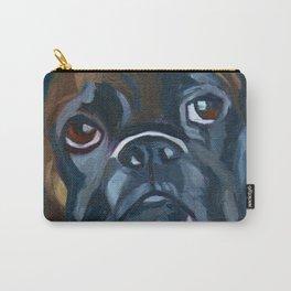 Boxer Lil E Dog Portrait Carry-All Pouch