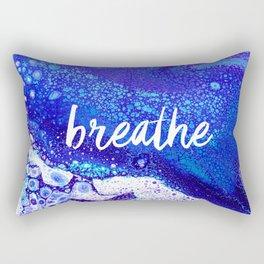 Breathe, Acrylic Pour Rectangular Pillow