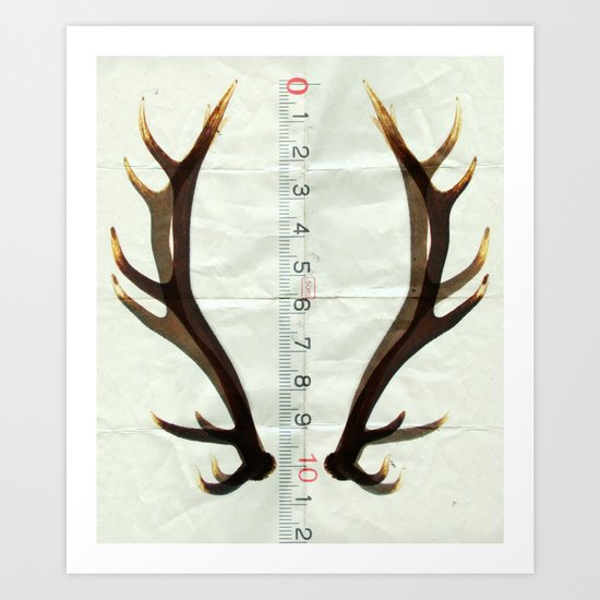 antlers measure Art Print