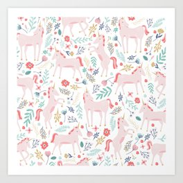 Unicorn Fields Art Print