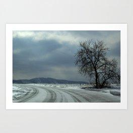 Iceroad Art Print