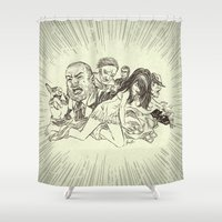 sale Shower Curtains featuring On Sale by Enrico Guarnieri 'Ico-dY'