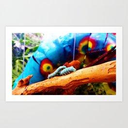 Blue Caterpillars Art Print