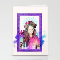 libra Stationery Cards featuring Libra by Sara Eshak