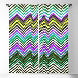 Zigzag Crochet Abstract Pattern Blackout Curtain