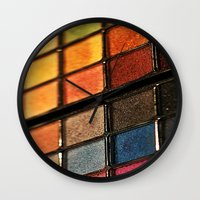 make up Wall Clocks featuring Make up by lescapricesdefilles