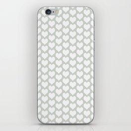 Gray Grey Hearts Sea Salt iPhone Skin