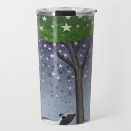starlit striped skunks Travel Mug