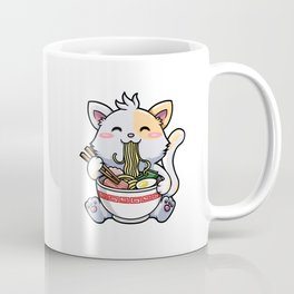 Kawaii Ramen Cat Japanese Anime Cute Noodle Coffee Mug