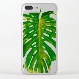 Guatemala - Monstera Deliciosa Leaf Clear iPhone Case