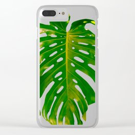 Guatemala - Monstera Deliciosa Leaf Clear iPhone Case