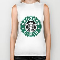starbucks Biker Tanks featuring Starbucks C MID by Rainer Hilland