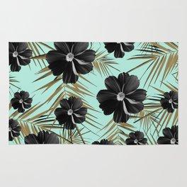 Tropical Diamond Flowers #3 #shiny #chic #floral #palms #decor #art #society6 Rug