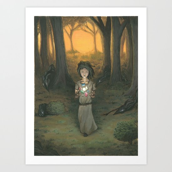 Baby in the Wood Art Print