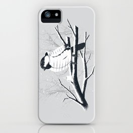 North For The Winter (Gray). iPhone Case