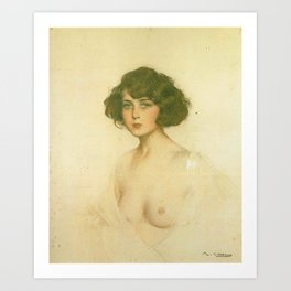 Julia by Ramon Casas Art Print