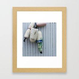 Amagansett Buoys Framed Art Print