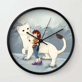 Hermine and her Fairy friend Wall Clock