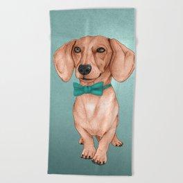 Dachshund, The Wiener Dog Beach Towel