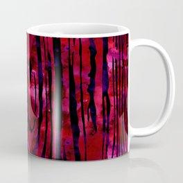 Red Wood Print Coffee Mug